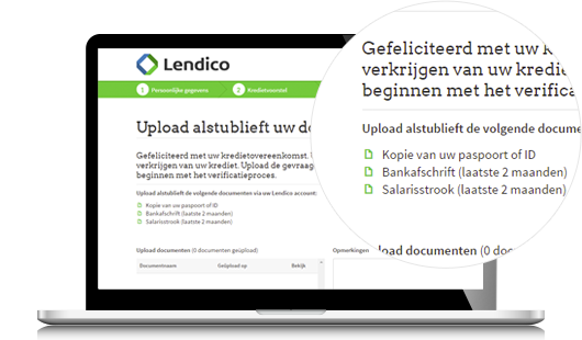 Upload uw documenten ter verificatie
